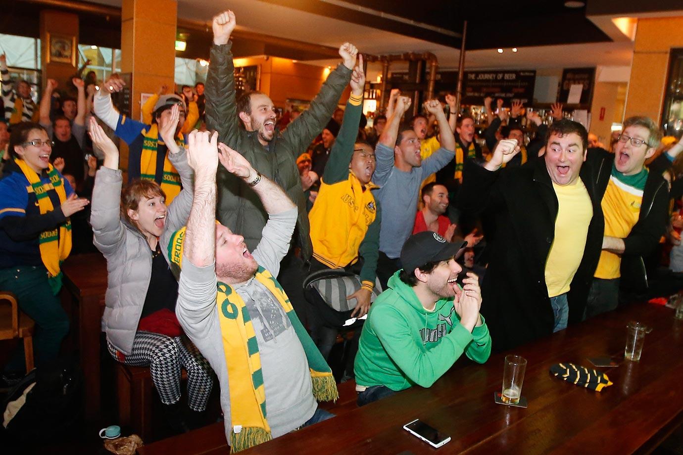 Australian fans in Melbourne.