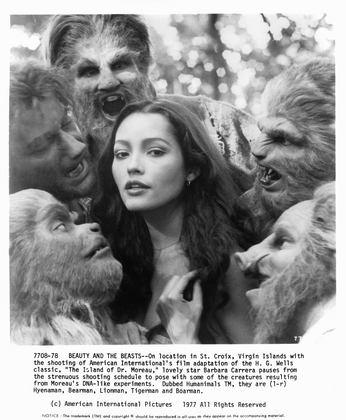 On location for 'The Island of Dr. Moreau,' 1977
