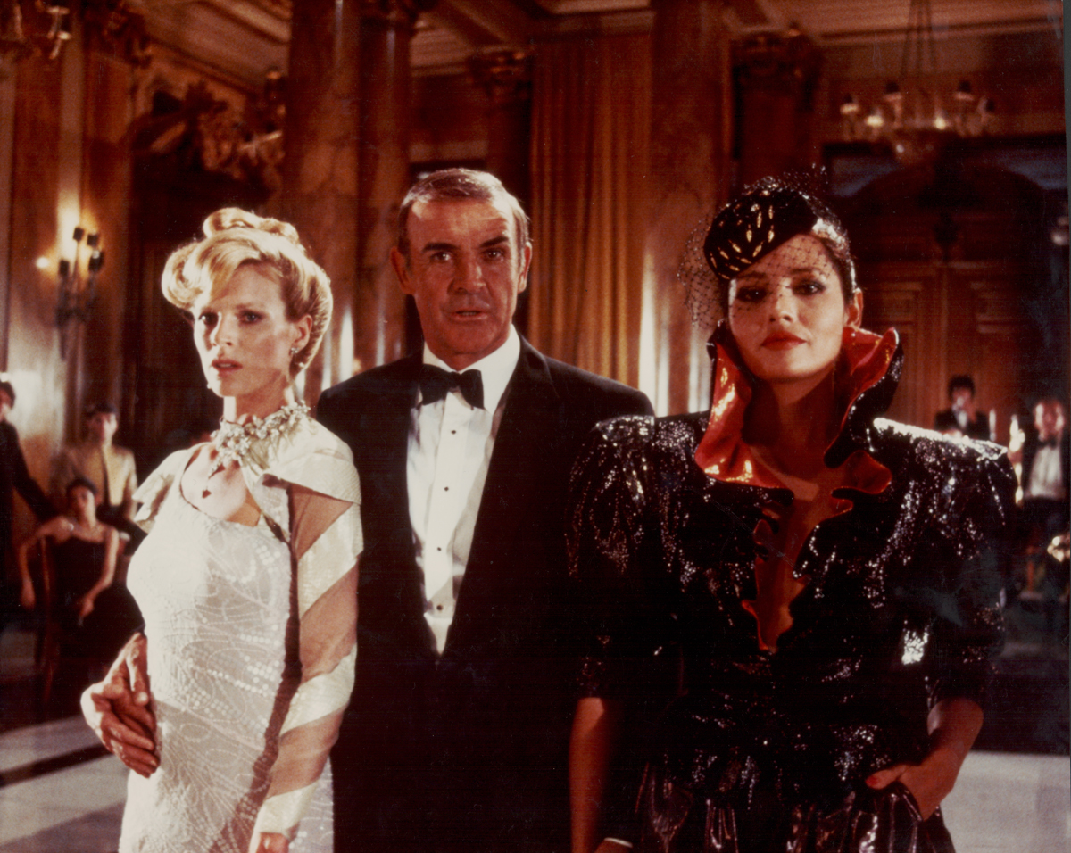 With Kim Basinger and Sean Connery in 'Never Say Never Again,' 1983