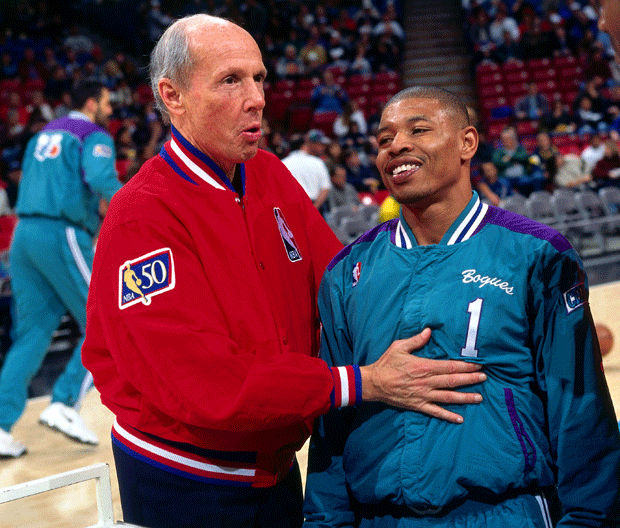 Dick Bavetta and Muggsy Bogues :: Getty Images