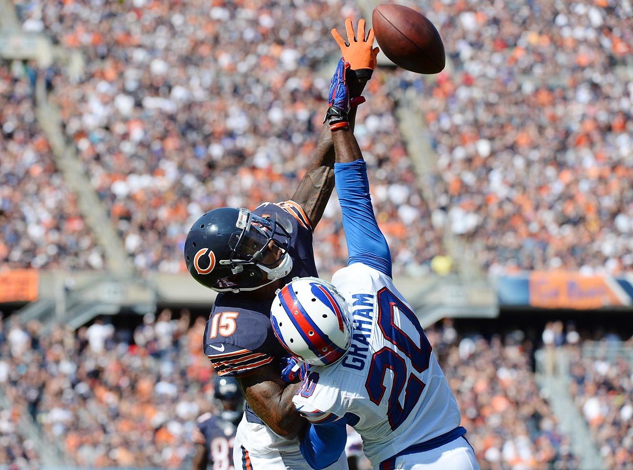 Buffalo Bills cornerback Corey Graham came up with a big stop against Brandon Marshall, helping the Bills pull off a 23-20 overtime upset in Chicago.