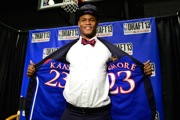 Ben McLemore with a jacket you won't find on the rack at Macy's.