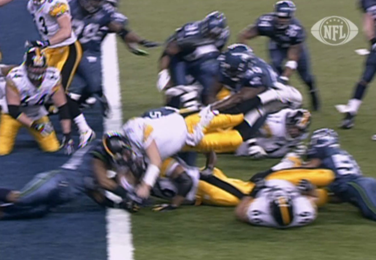 Video replay was inconclusive, and the call on the field stood.