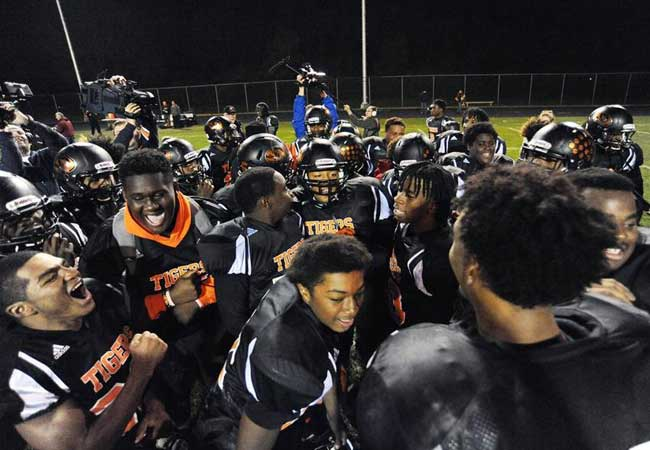 The Tigers were all smiles after last Friday's playoff victory.
