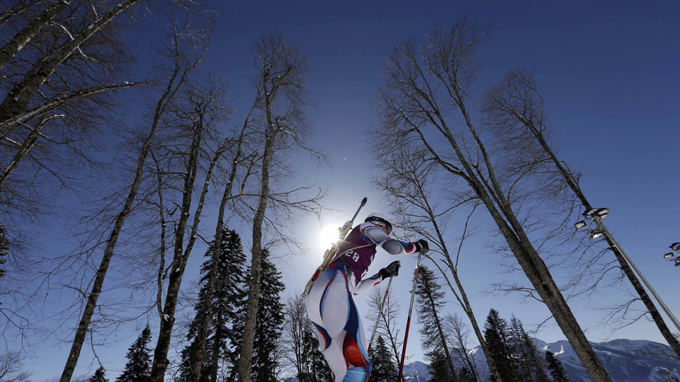 The biathlon course had to be lengthened on the eve of competition.
