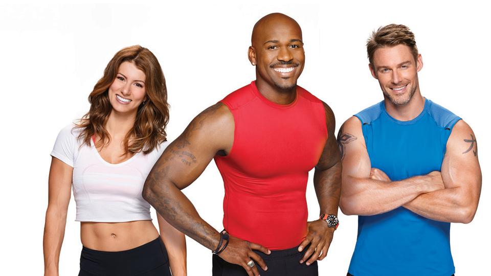 Jennifer Widerstrom, Jessie Pavelka and veteran trainer, Dolvett Quince.