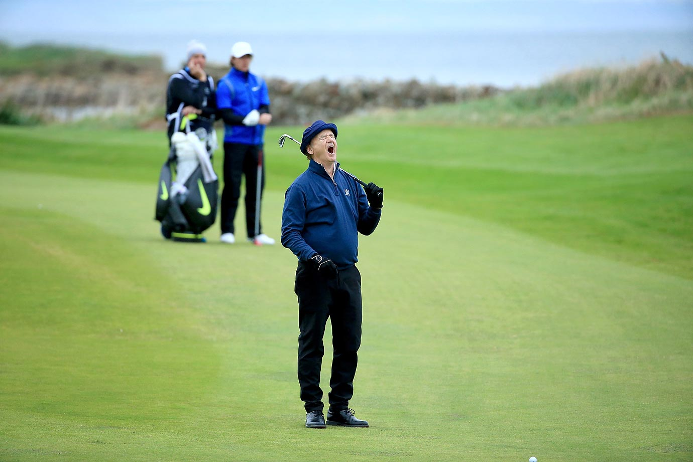 Bill Murray on the 12th fairway during the second round of the 2014 Alfred Dunhill Links Championship.