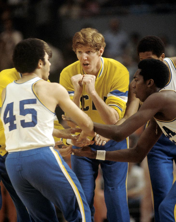 UCLA's Bill Walton before the start of the championship game with Memphis State held in St. Louis. UCLA won 87-66.