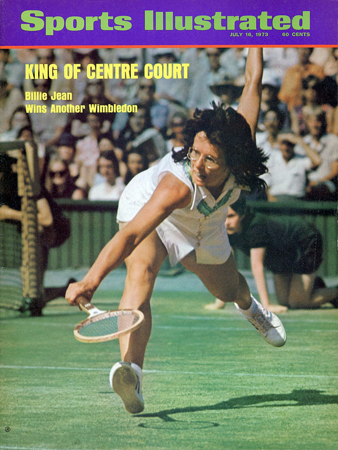 "A six-time Wimbledon and four-time U.S. Open champion, Billie Jean King is best remembered for her famous ""Battle of the Sexes"" match against Bobby Riggs. One of the most important moments in sports history and the advancement of women in sports, King defeated Riggs 6-4, 6-3, 6-3. The victory marked a major turning point for women in sports."