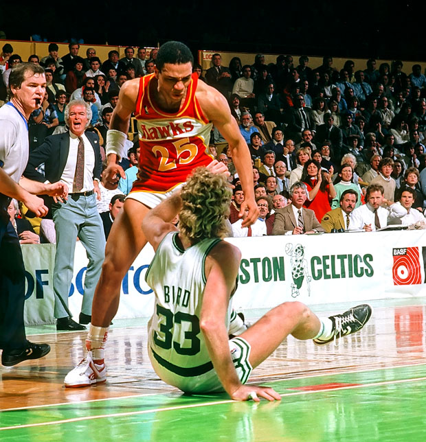 Doc Rivers and Larry Bird :: Corbis