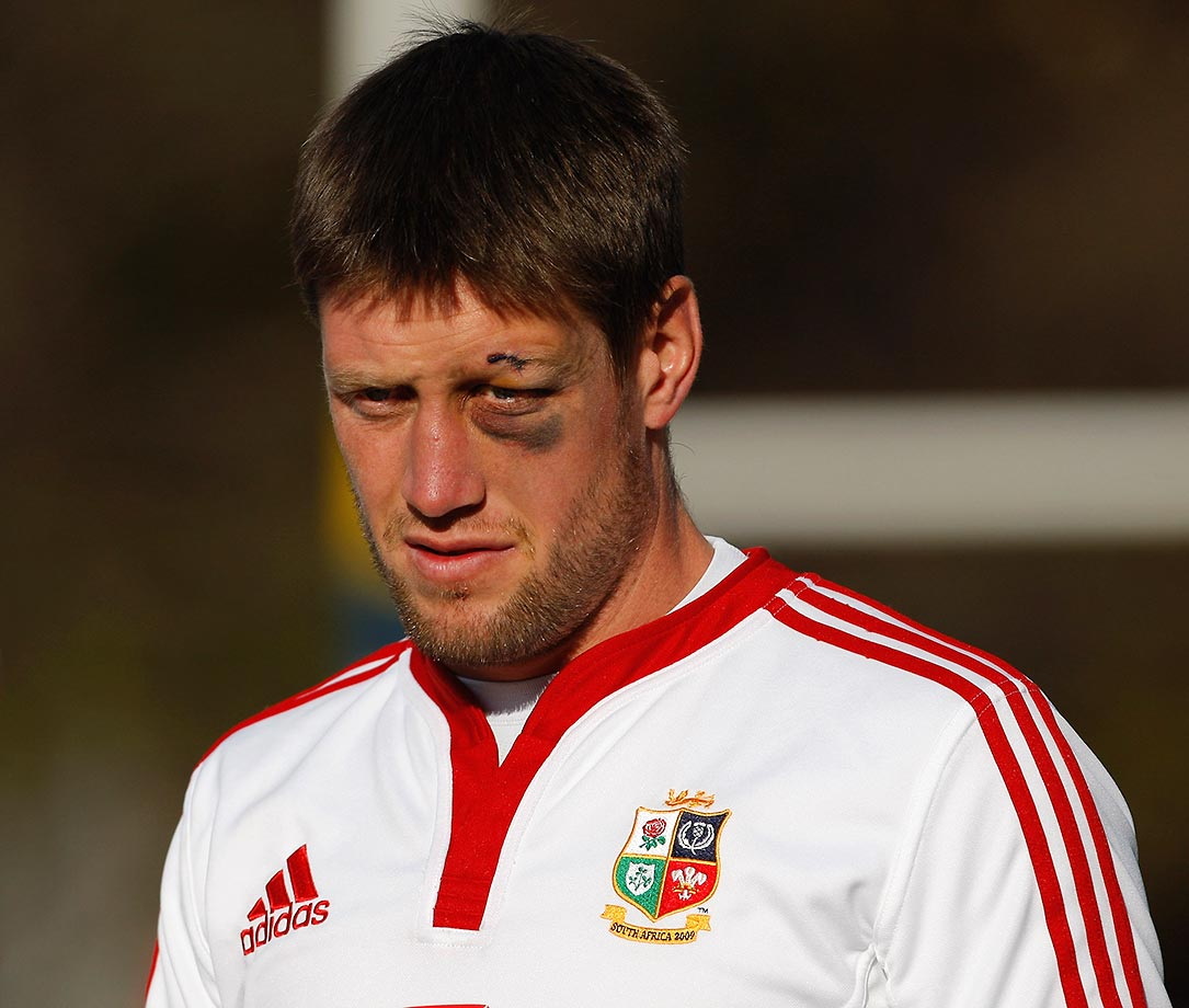 British and Irish Lions player Ronan O' Gara during training in 2009.
