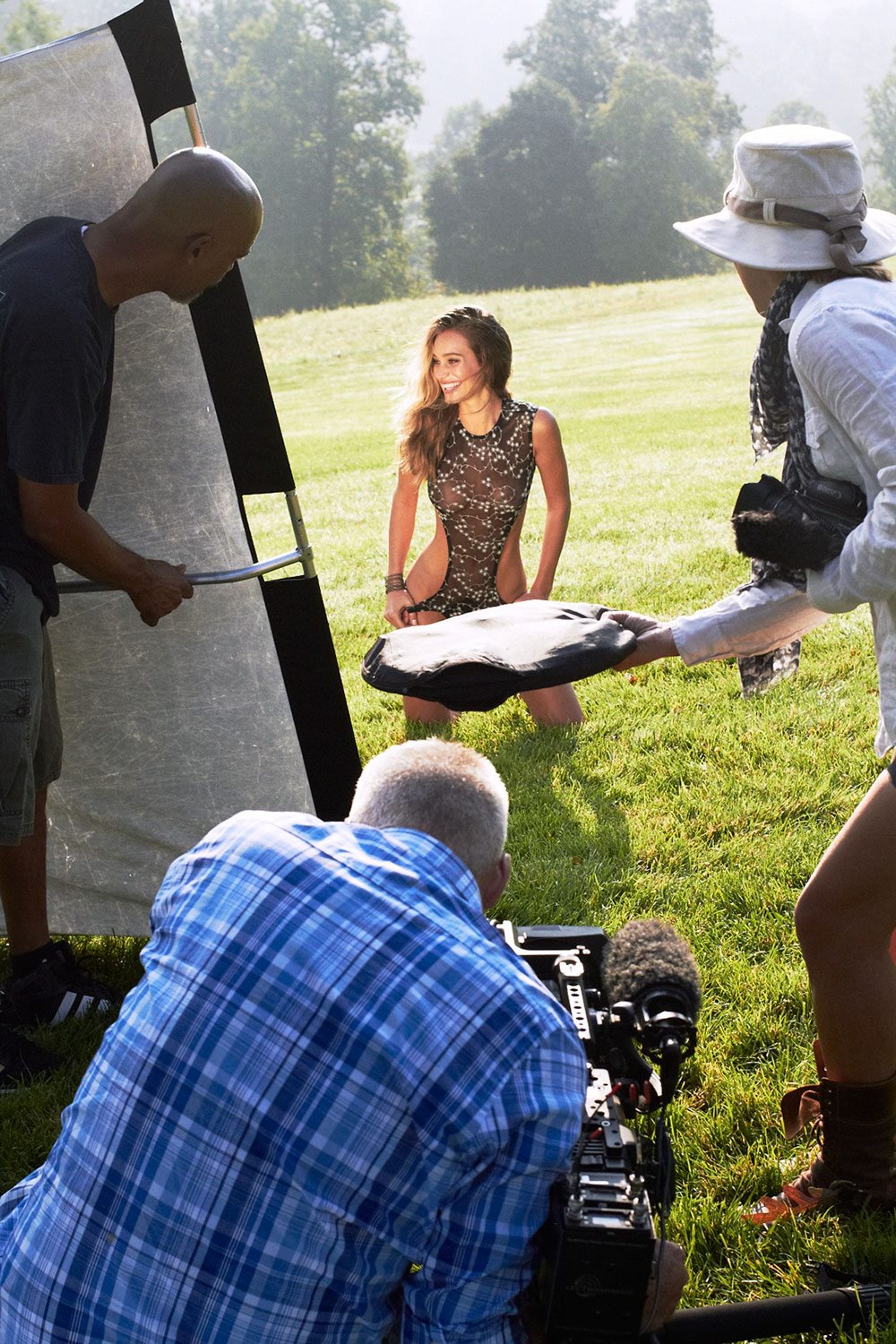 BTS with Hannah Davis at Blackberry Farm, SI Swimsuit 2015