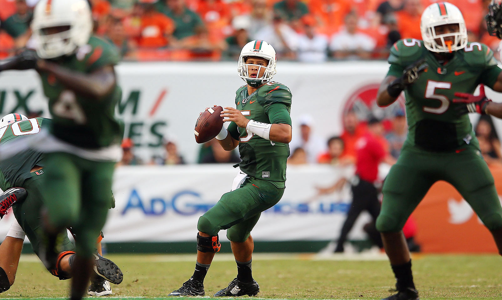 Kaaya was tasked with restoring The U as just a true freshman, and he performed well even as the Hurricanes fell short of expectations. The quarterback threw for 26 touchdowns compared to 12 interceptions, amassing over 3,000 yards. But Kaaya will have to be even better as a sophomore to rally the Hurricanes, who lost four in a row to end 2014.