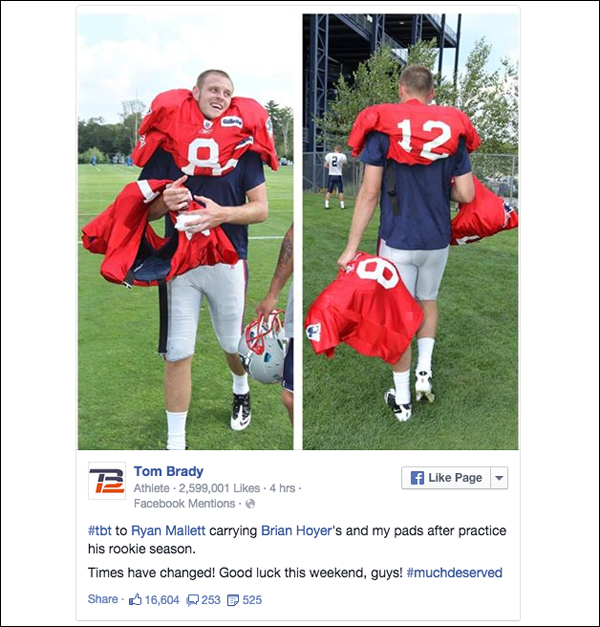 courtesy of Tom Brady Facebook Page