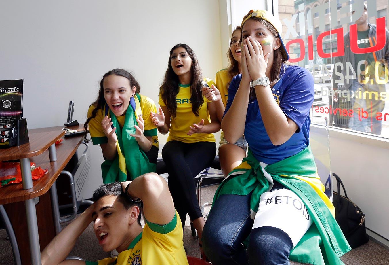 Brazil soccer fans in Framingham, Mass.