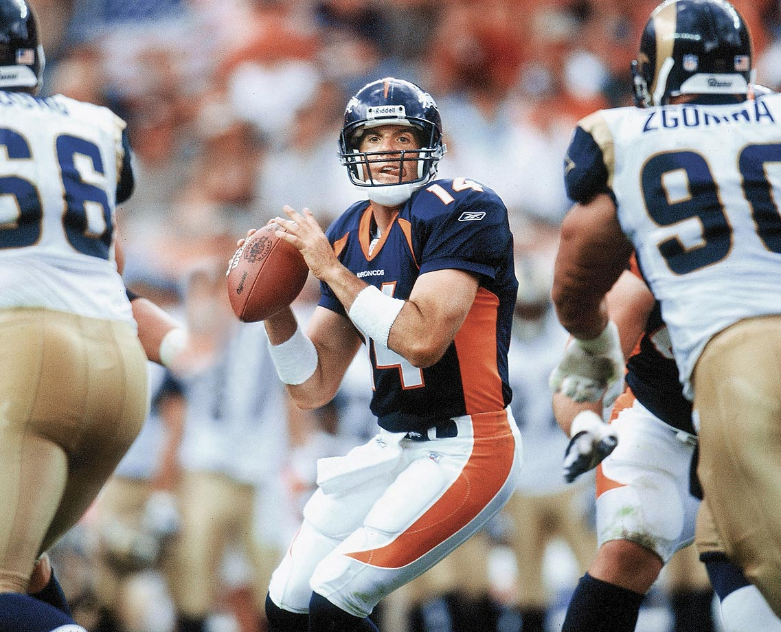 Brian Griese capped his stint in Denver with the best passing season of his career, throwing for 3,214 yards in just 13 games in 2002. Another victim of the salary cap, Griese was released following the season when Denver signed Jake Plummer. He followed in his father's footsteps, signing with the Dolphins as a backup, but struggled when given playing time, throwing for just 813 yards and five touchdowns in five games before being released.