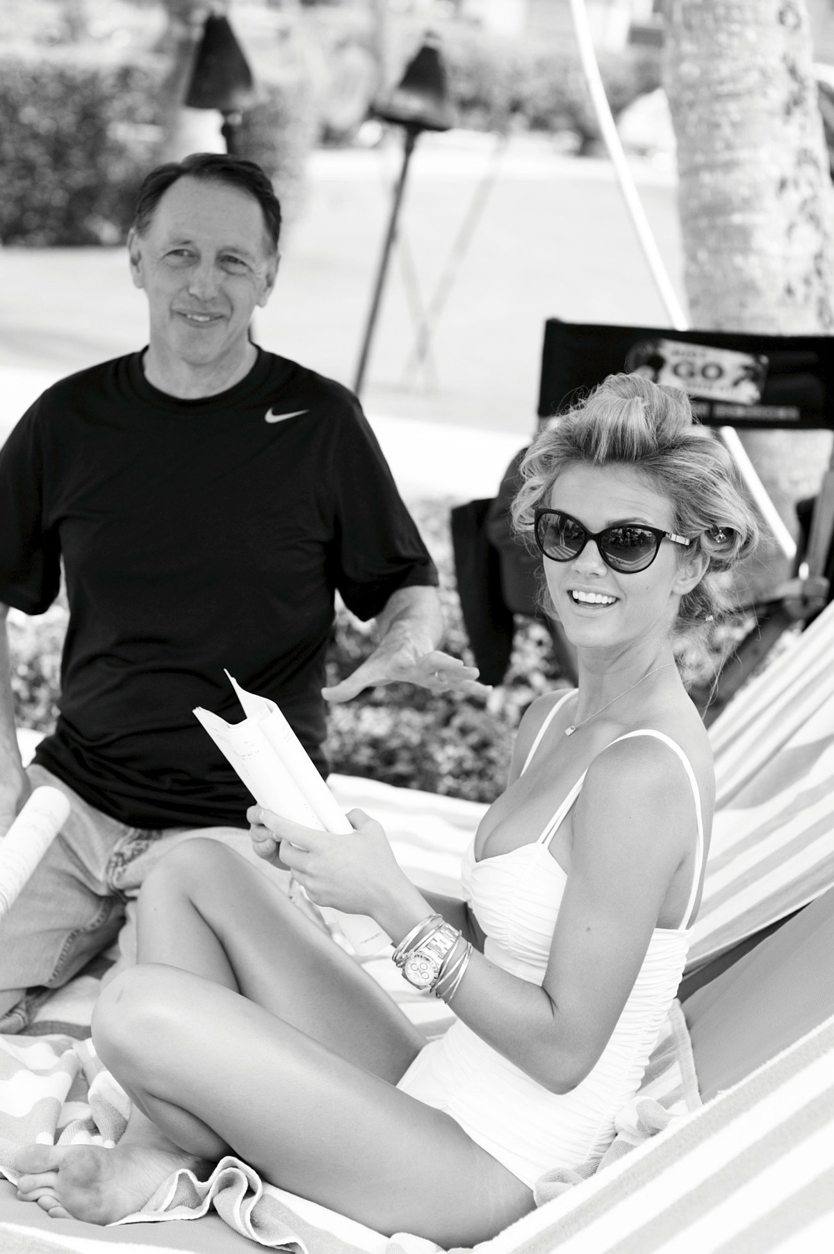 Brooklyn Decker with director Dennis Dugan, SI Swimsuit 2011