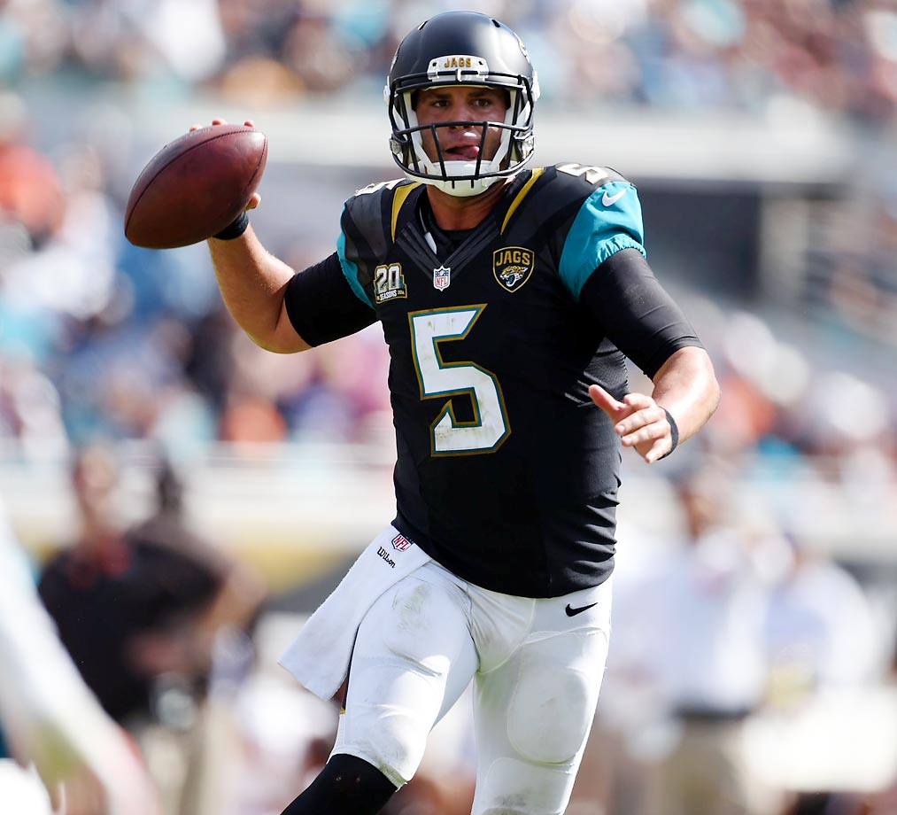 Blake Bortles had 159 yards for one score and three interceptions in the Jaguars' 24-6 win over the Browns.