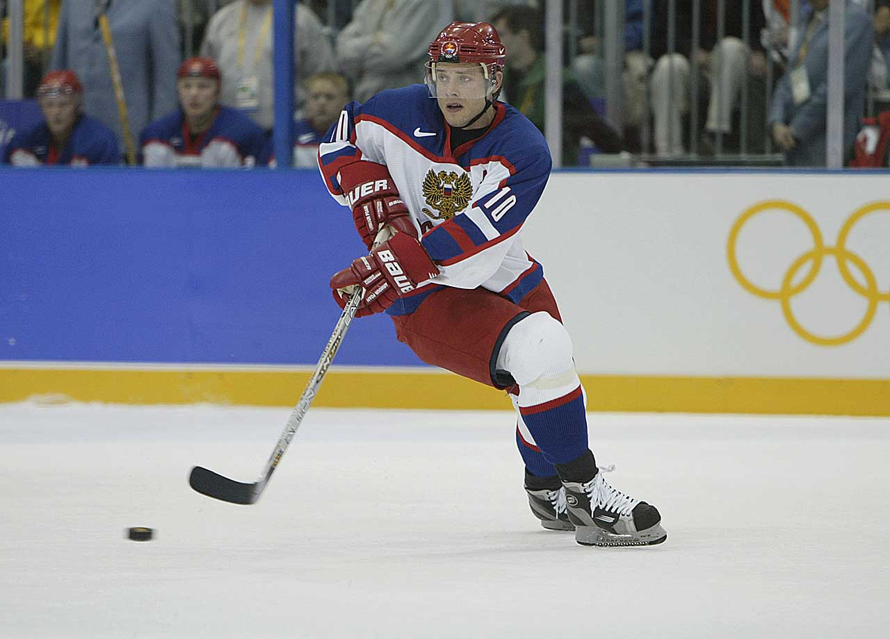The Russian Rocket was a lightning-quick skater and a lethal sniper who scored 437 goals in 702 NHL games -- his goals-per-game ratio of 0.623 is third best in NHL history. He led the league in goals once with the Canucks and twice with the Panthers, and was named MVP of the NHL All-Star Game in 2000. He was also a much better defensive forward than he got credit for, and his low-to-the-ice skating style made him nearly impossible to knock off the puck. He remains one of the most exciting Russian players ever to take the ice. -- Brian Cazeneuve