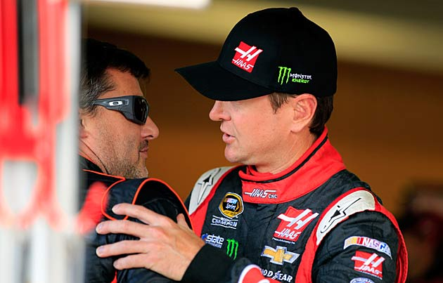 Busch's first season with Tony Stewart (left) proved to be a bumpy ride.