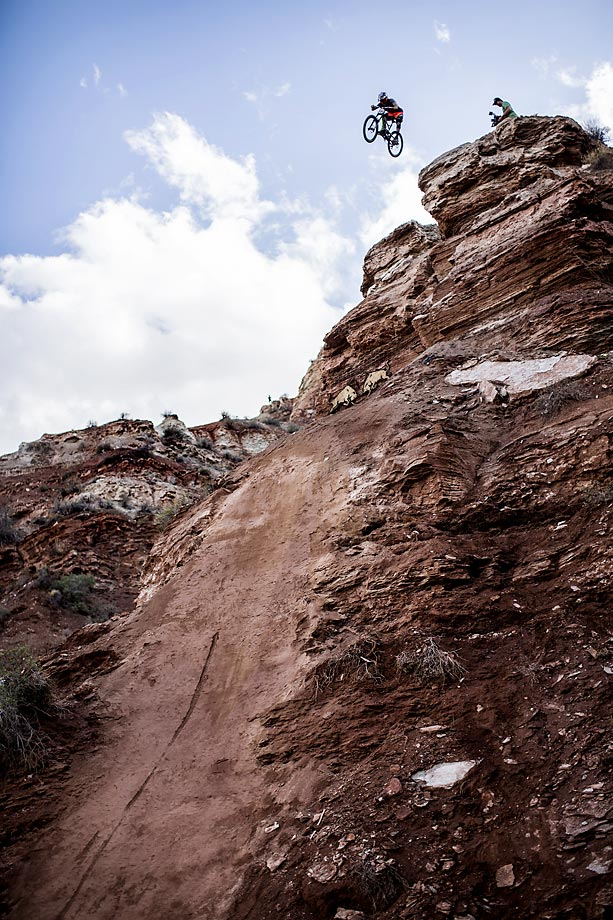 Cameron Zink during the Rampage free ride event in Virgin, Utah.