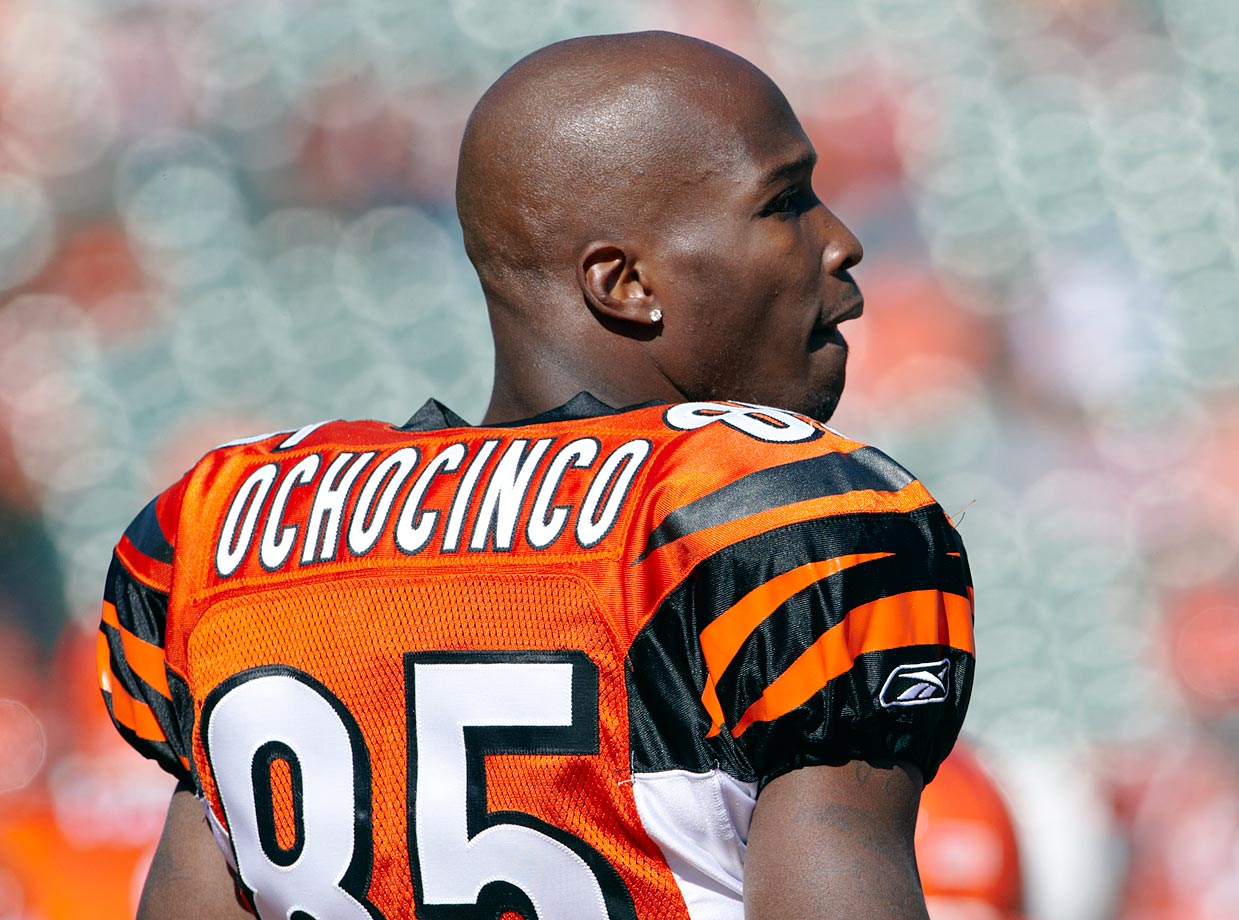 On Oct. 25, 2006, in honor of Hispanic Heritage Month, Johnson announced that he would prefer to be called ''Ocho Cinco,'' which is ''eight five'' in Spanish. (''Eighty five'' would be ''ochenta y cinco''). Johnson legally changed his name to Chad Javon Ochocinco on Aug. 29, 2008. He played with ''Ochocinco'' on the back of his jersey since the 2009 preseason. On July 23, 2012, after Ochocinco's move to the Miami Dolphins, he legally changed his name back to Chad Johnson at a Broward County courthouse because he ''wanted to reconnect with his former self.''