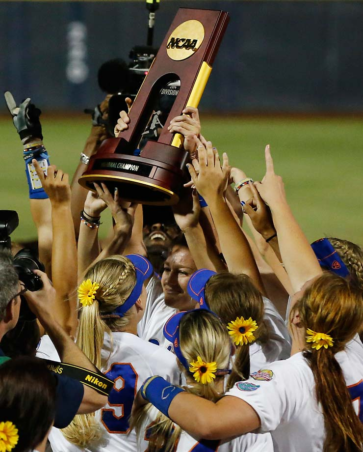 Florida swept Alabama 6-3 to win softball's national title.  They were statistically the most dominant in the tournament on their way to clinching the school's first-ever softball national title.