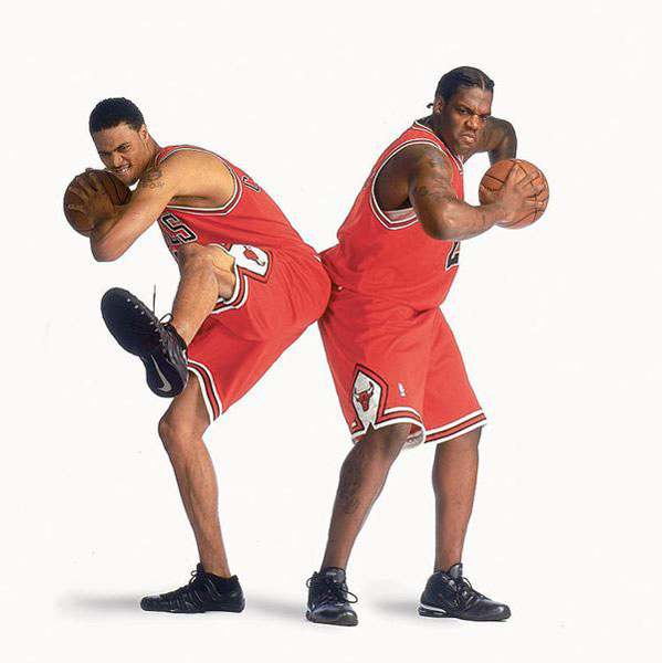 Tyson Chandler and Eddy Curry :: Todd Rosenberg/SI