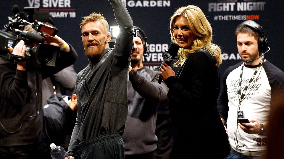 Charissa Thompson interviews MMA fighter Conor Macgregor.