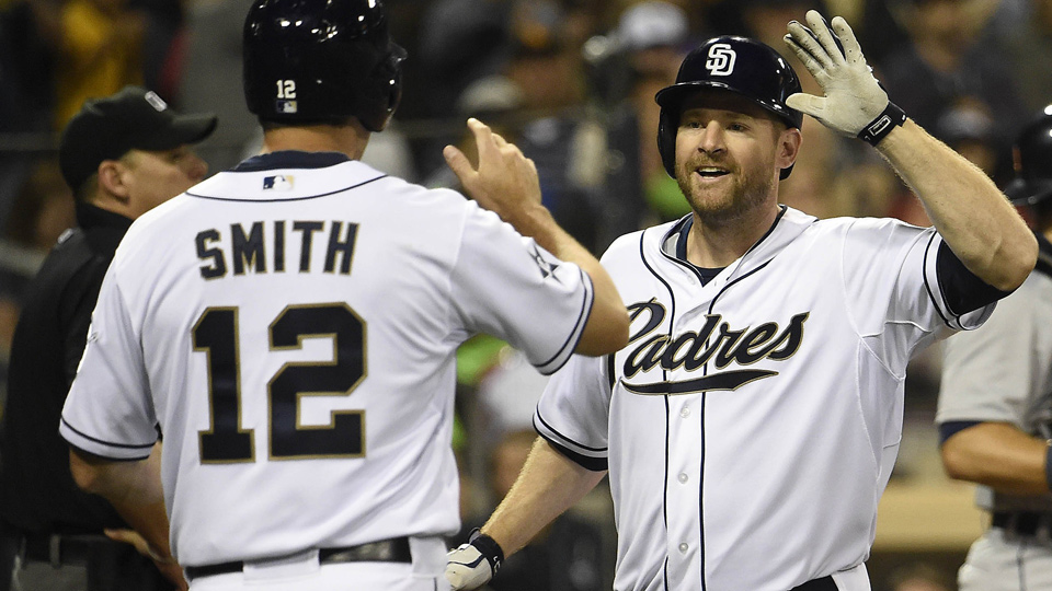 With Josh Byrnes out as the Padres' general manager, Seth Smith (left) and Chase Headley may soon find themselves with new homes.