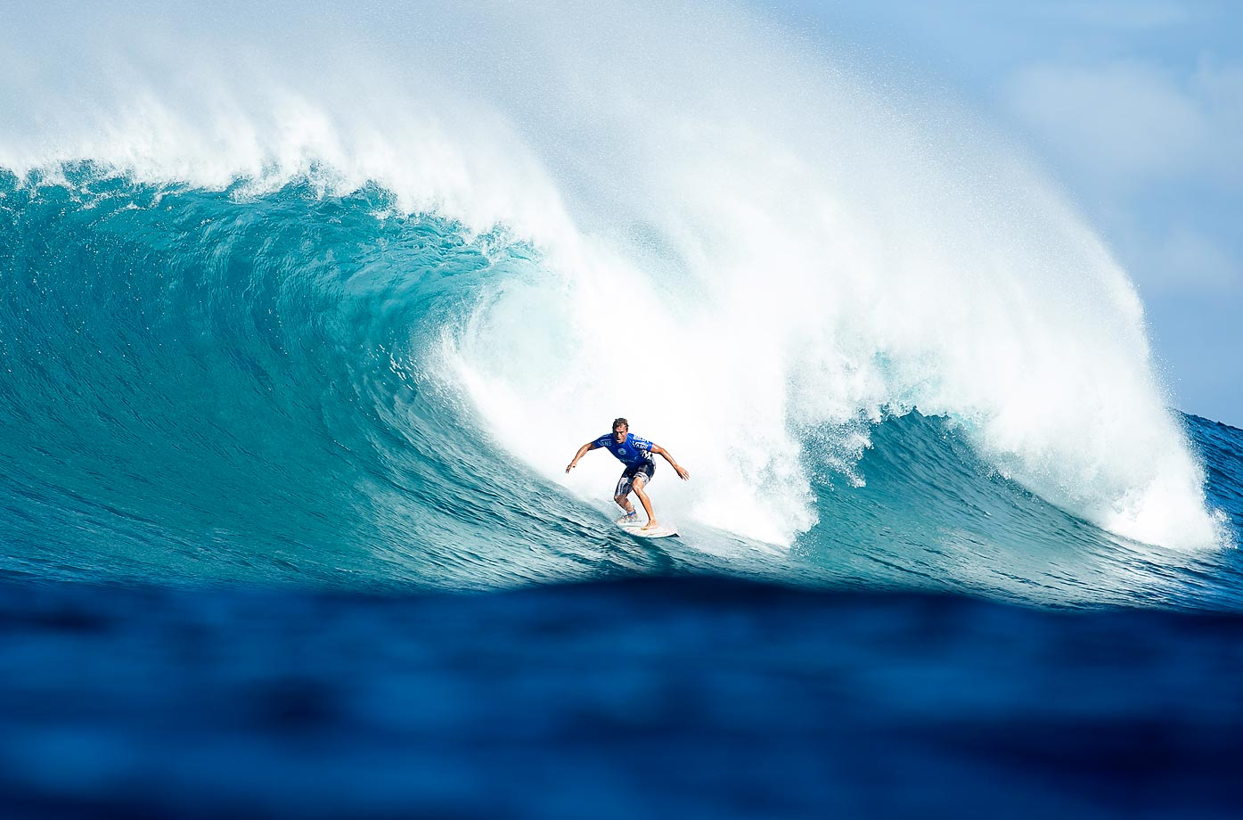 Chris Ward of the United States placed second in his Round 2 heat of the Vans World Cup.