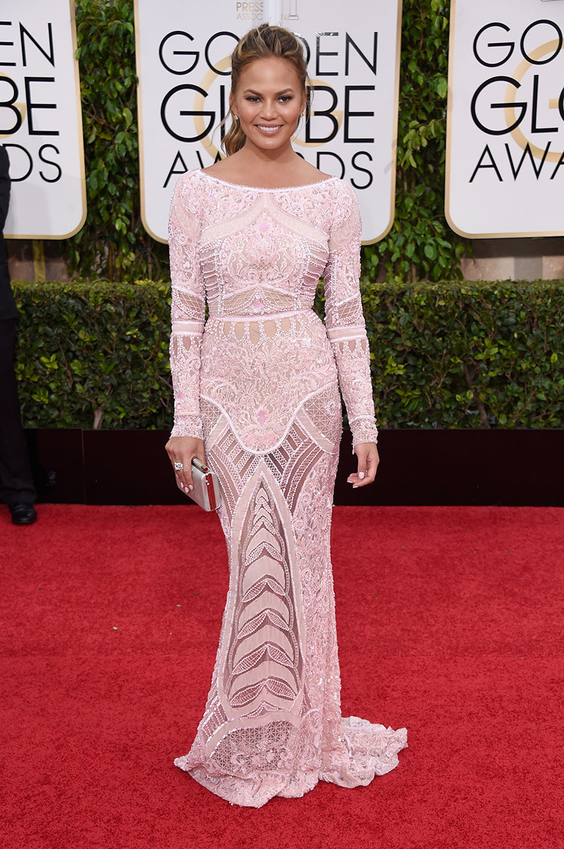 On the red carpet for the 72nd Annual Golden Globe Awards at The Beverly Hilton Hotel