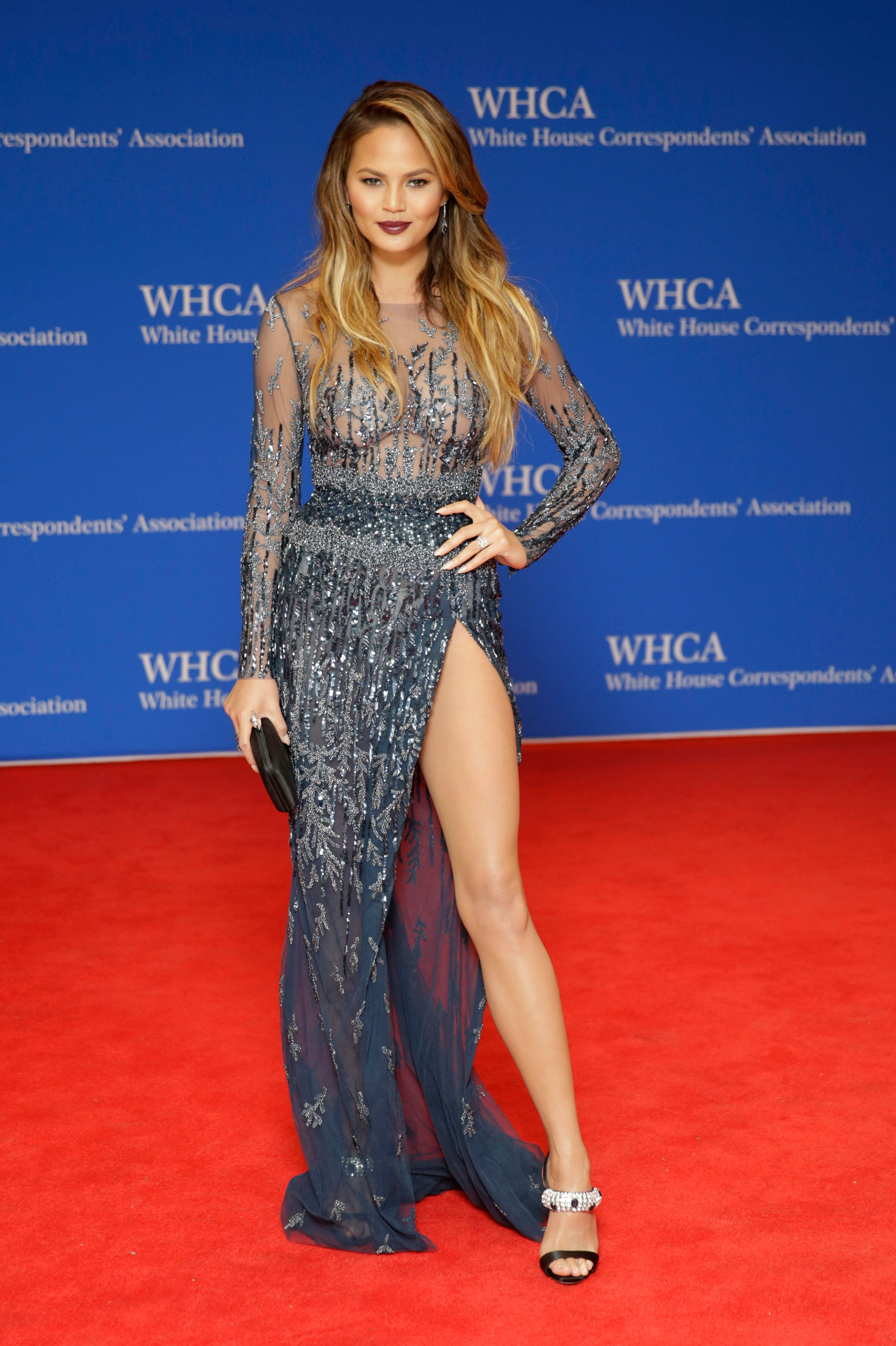 Chrissy Teigen attends the 101st Annual White House Correspondents' Association Dinner.