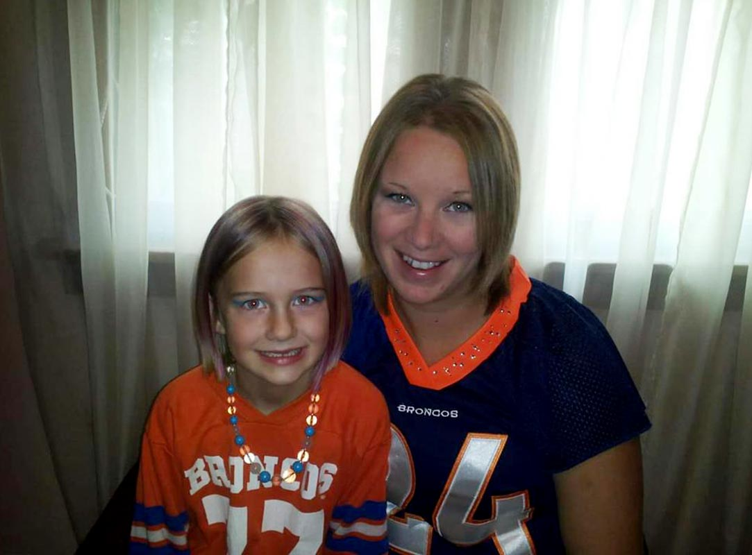 @SInow Sharing the love of rocking #broncos gear with my daughter! #myNFLFanStyle