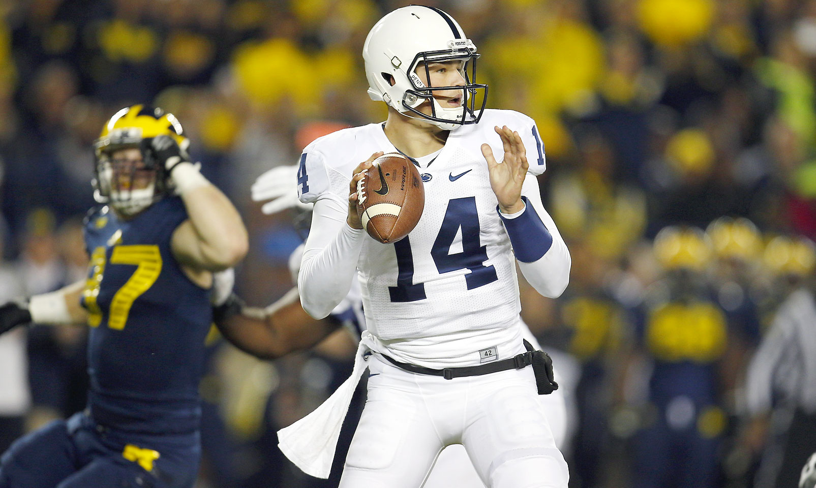 Hackenberg struggled last season in his first year under James Franklin and behind a shaky offensive. But the Nittany Lions' signal caller shined when he started as a true freshman, and another year under Franklin's tutelage in addition to much needed improvements in protection should help to bring out the talent in the former five-star recruit.