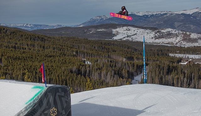 Christy Prior in the women's slopestyle final.
