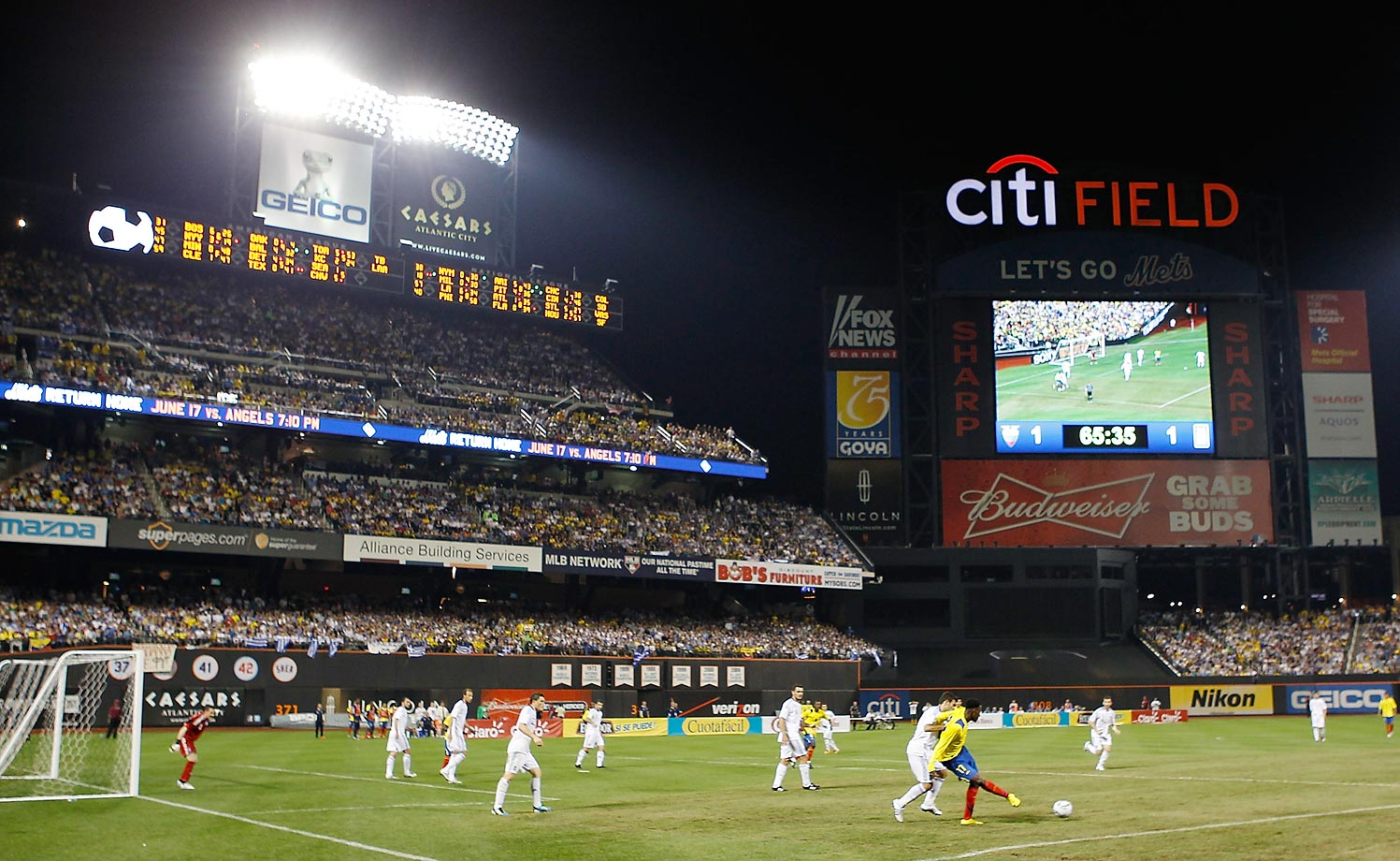 Ecuador played Greece at Citi Field on June 7, 2011.