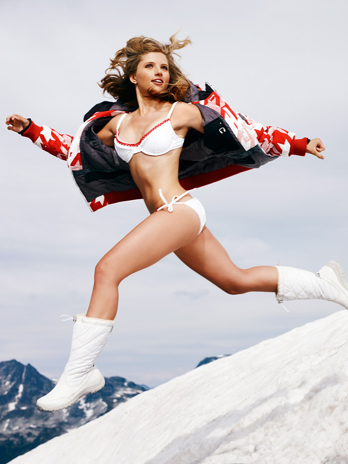 Sport: Snowboarding --                             (Athough Clair Bidez barely missed qualifying in the 2010 Olympics, she'll make the cut for this gallery).