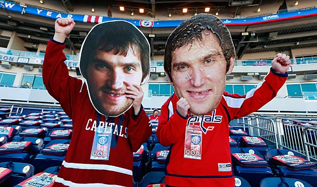 A pair of Ovechkin fans showed up early.