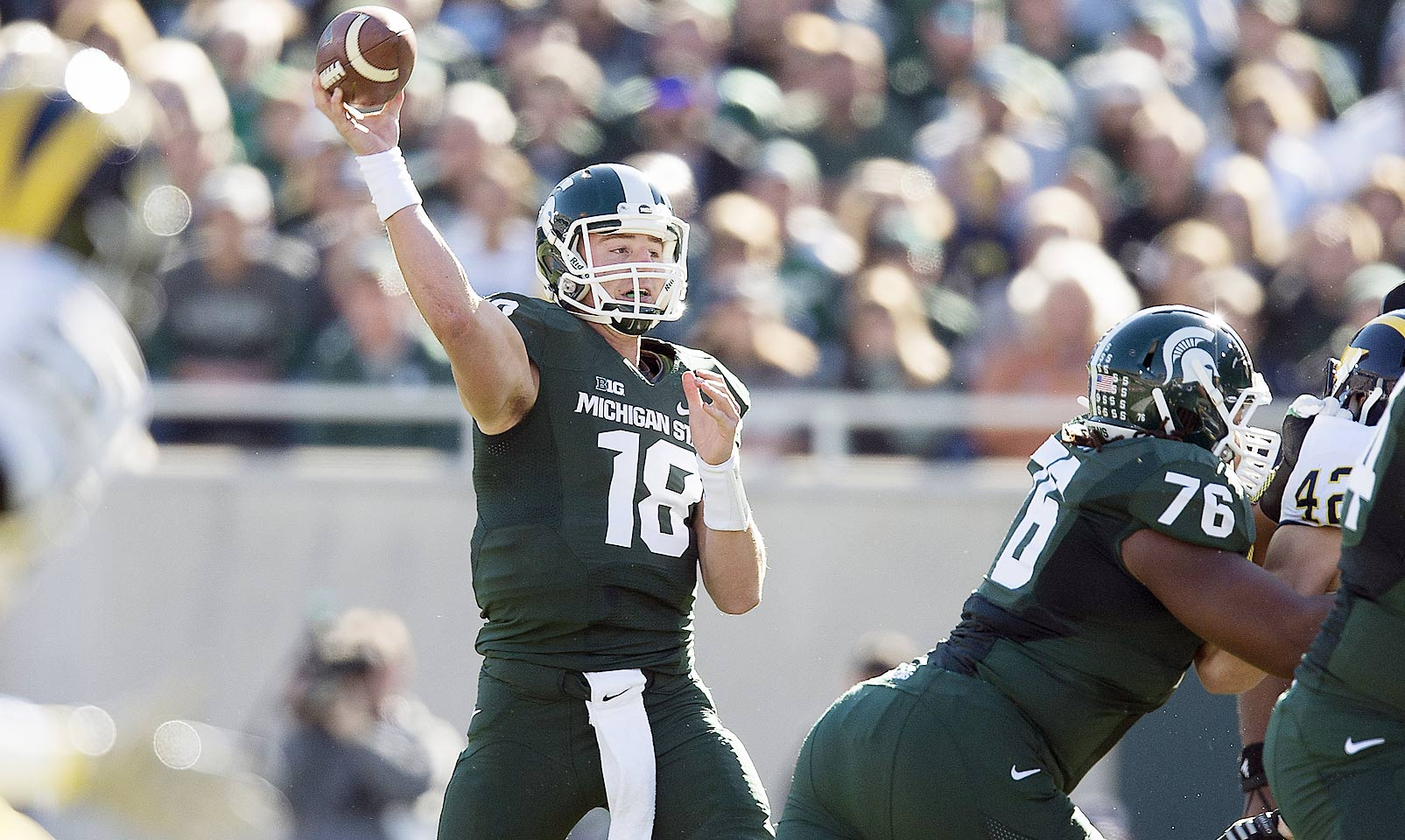 Cook has helped the Spartans go 23-3 over the last two season, including wins in the Rose Bowl and Cotton Bowl. He likely would have been the No. 3 quarterback in this year's draft class. Instead Cook's return to East Lansing makes Michigan State the biggest threat to Ohio State for the Big Ten title.
