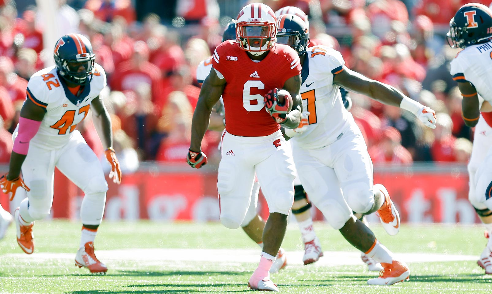 Clement ran for over six yards per carry and nine touchdowns last season when spelling for Heisman finalist Melvin Gordon. With Gordon off to the NFL, Clement is set up to become the latest in the long line of successful Wisconsin running backs.