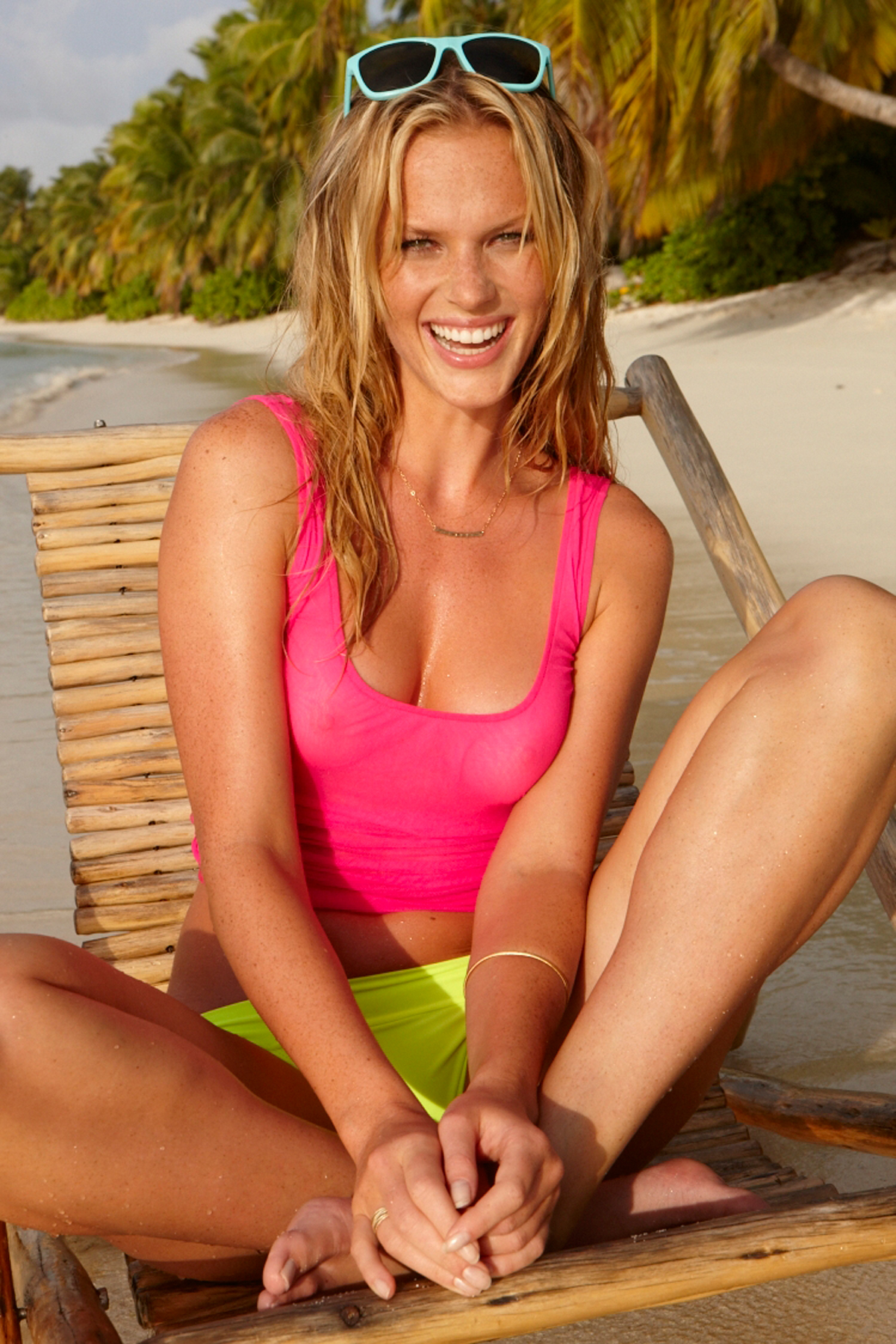 Anne V in the Seychelles, SI Swimsuit 2012 (top by Cosabella)