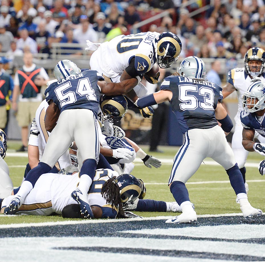 The Rams lost to the Cowboys on Sunday, 34-31.