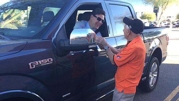 Arizona Coyotes Parking Attendant Lou Monaco A Local