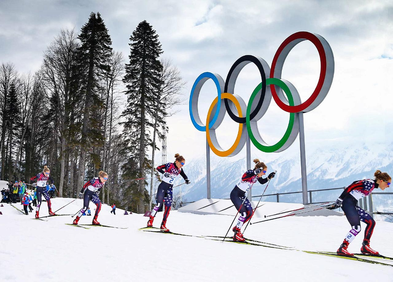 Ladies Sprint Free Qualification at the Laura Cross-country Ski and Biathlon Center.