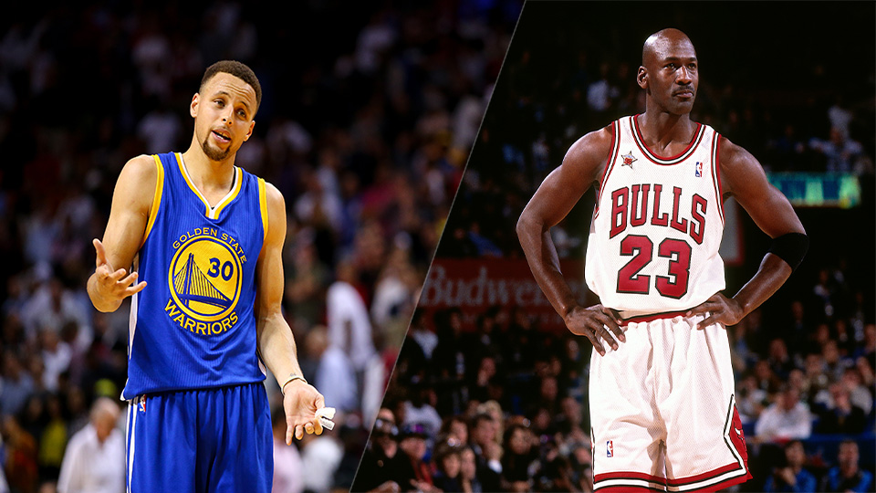 Steph Curry and Michael Jordan