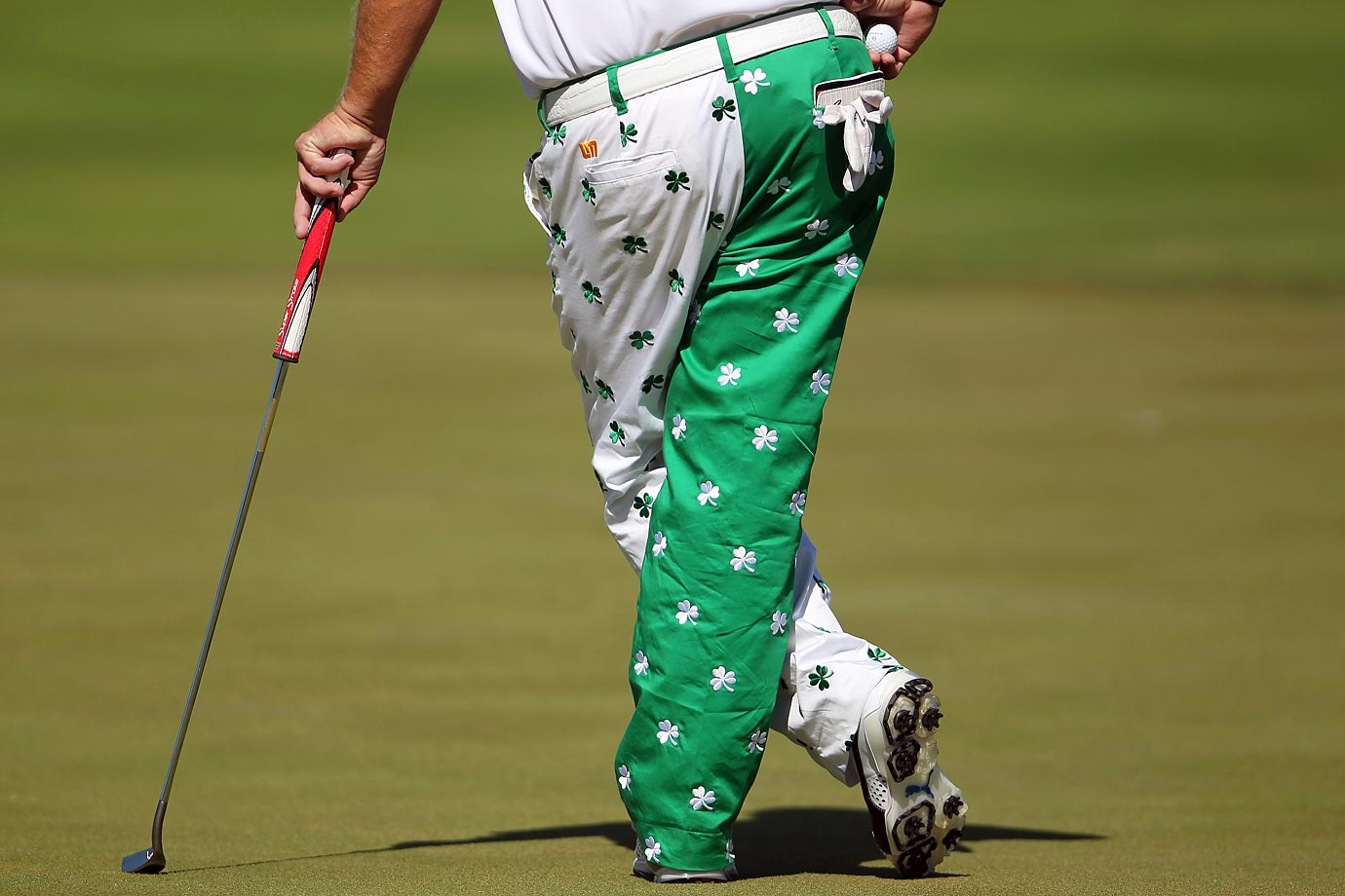 John Daly waits for his turn to putt on the 10th green at the Puerto Rico Open.