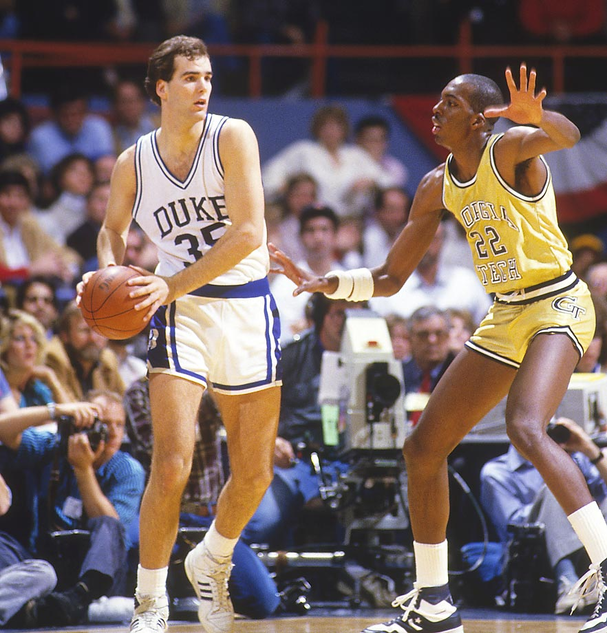Danny Ferry (1985-1989): Ferry's Duke teams, which went to three Final Fours but never brought home a national title, are sometimes overshadowed by the Christian Laettner-led squads that won back-to-back championships. But Ferry was a force on offense who could play both inside and outside. Just ask 1988 Miami: Ferry still owns Duke's single-game points record for the 58 he put up on them. He was a second-team All-America in '88 and a first-teamer in '89, when he also won the Naismith Award.