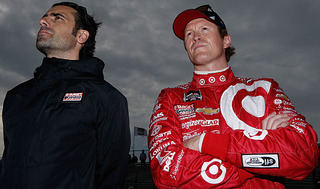 His racing career over, Dario Franchitti (left) now serves as an advisor to Scott Dixon.
