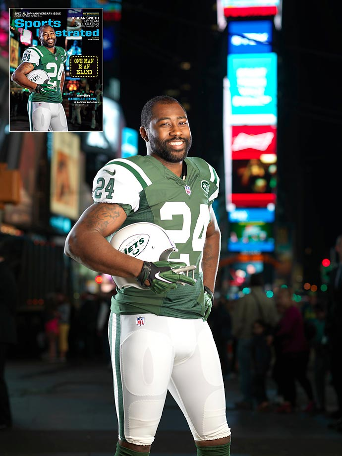 Here are some behind-the-scenes photos from SI's cover and feature shoot with New York Jets defender Darrelle Revis, who replicated the famous Joe Namath cover from 50 years ago.